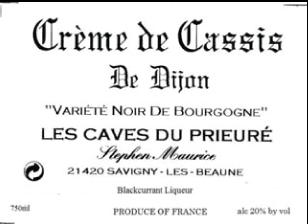 Crème De Cassis Blackcurrant Liqueur
